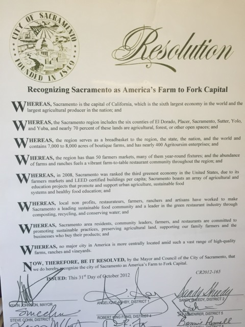 The official Farm-to-Fork Resolution