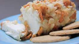 Clean Eating Pineapple & Macadamia Goats Cheese Log