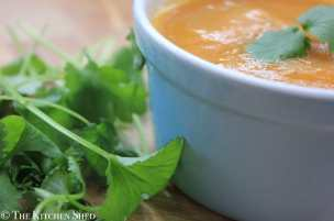 Clean Eating Carrot and Coriander Soup
