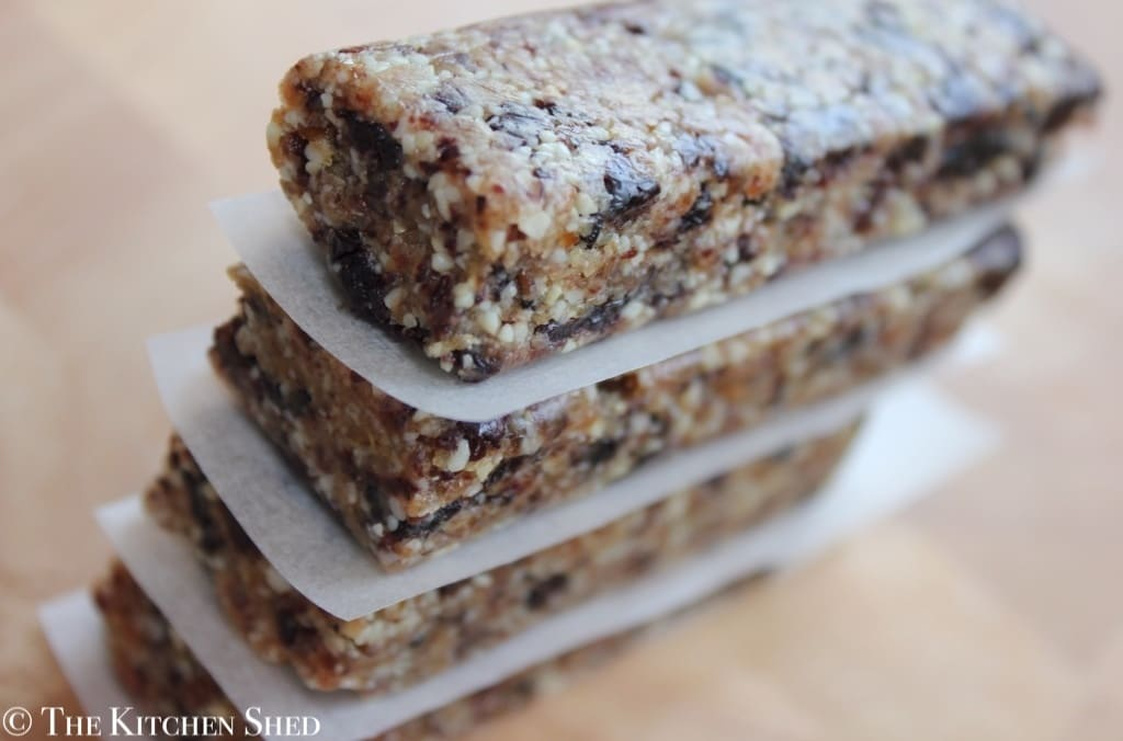The Kitchen Shed - Clean Eating No Bake Cherry Bars