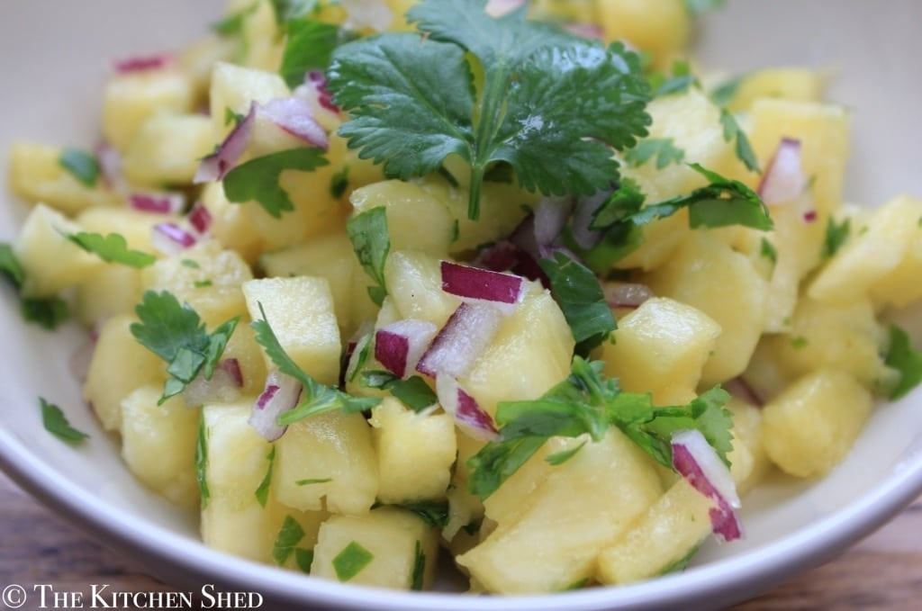 Clean Eating Pineapple Salsa - The Kitchen Shed