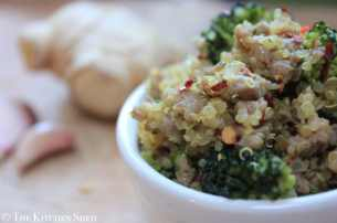 Clean Eating Quinoa Turkey Stir Fry