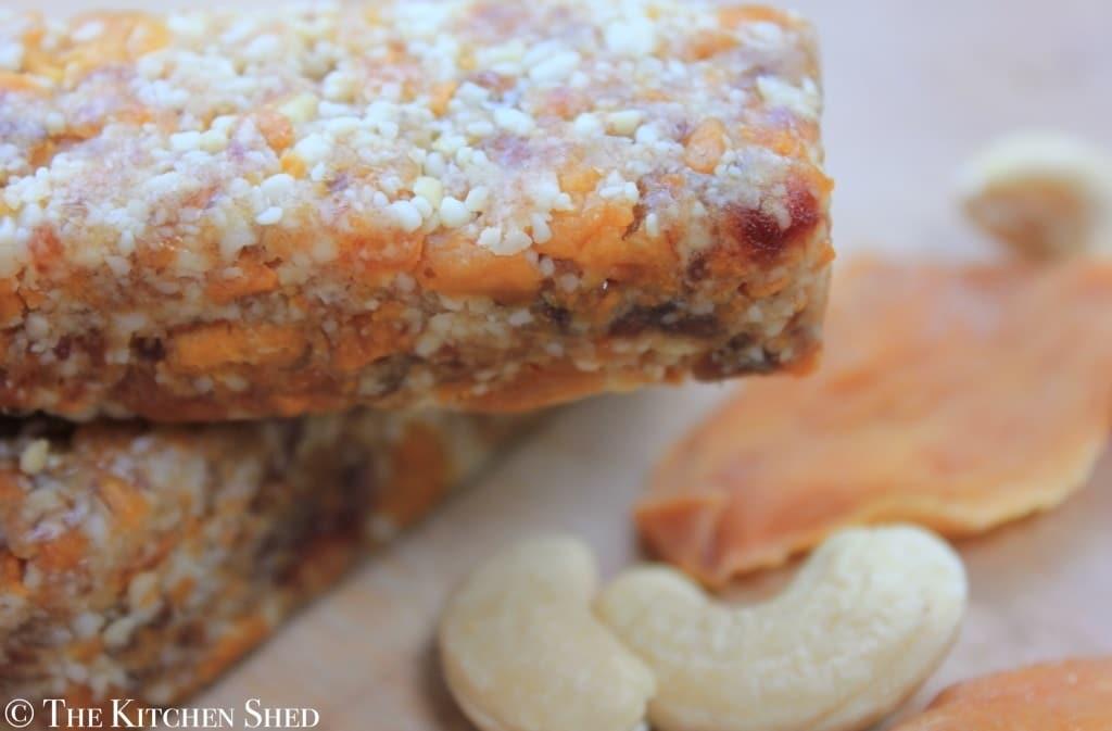 The Kitchen Shed - Clean Eating No Bake Mango Bars