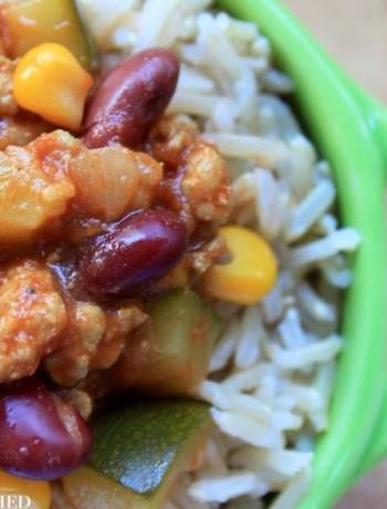 Clean Eating Turkey Chilli with Rice 1