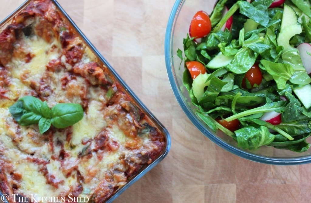The Kitchen Shed - Clean Eating Vegetable Lasagne