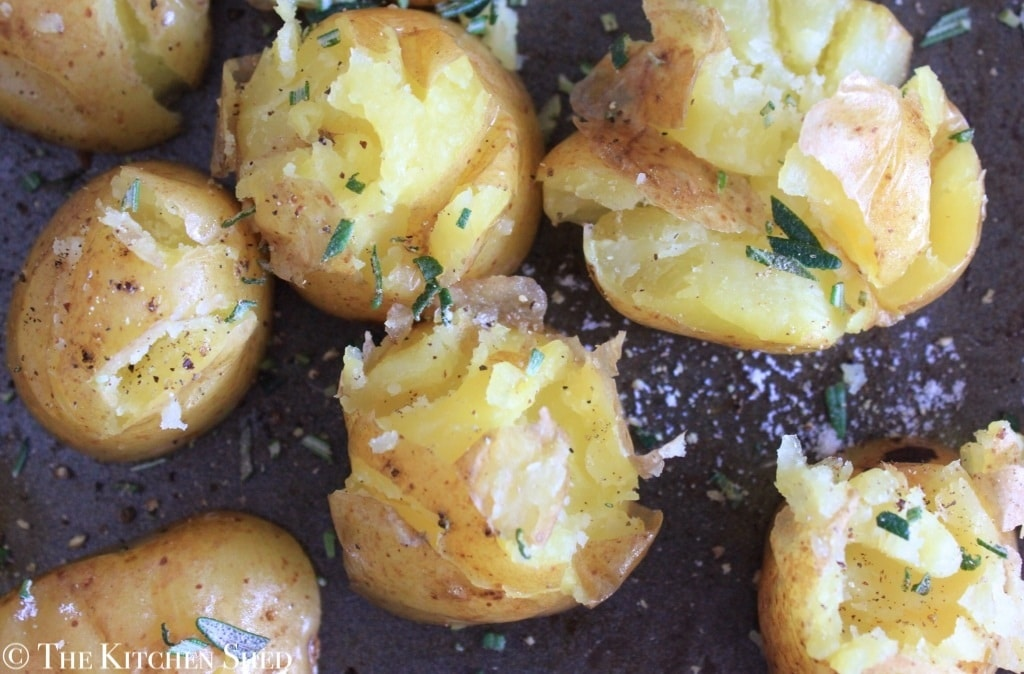 Clean Eating Roasted Rosemary Potatoes - The Kitchen Shed