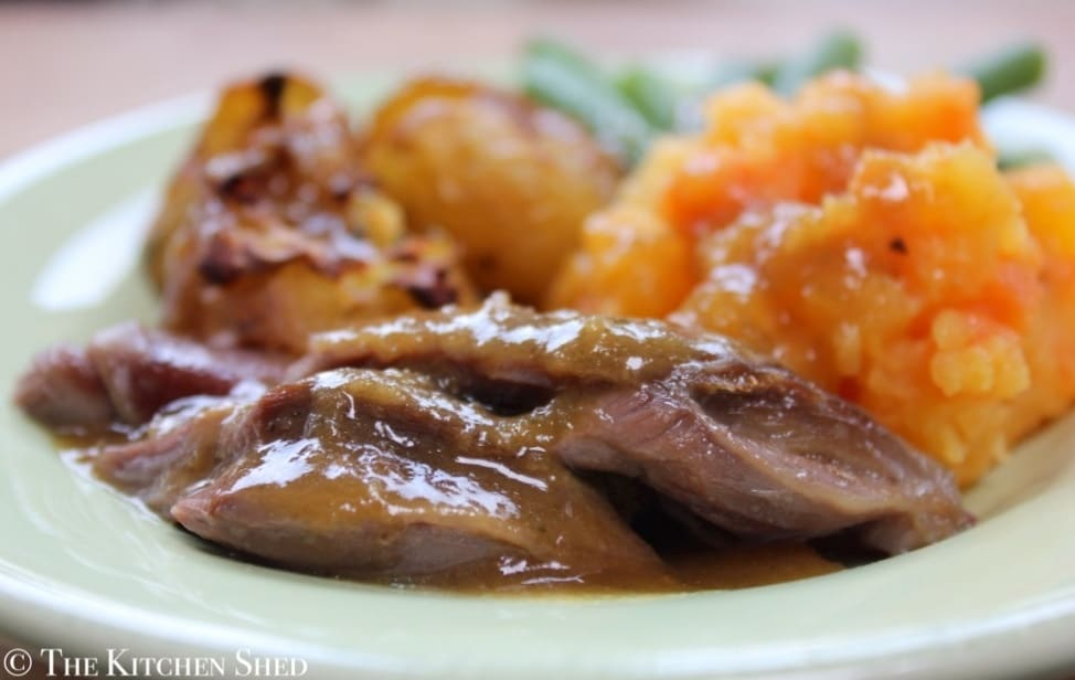 Clean Eating Slow Cooker Lamb Shanks - The Kitchen Shed