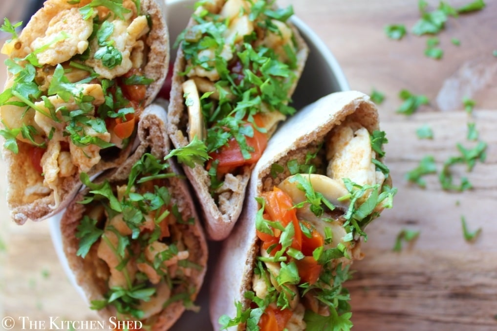Clean Eating Breakfast Pittas