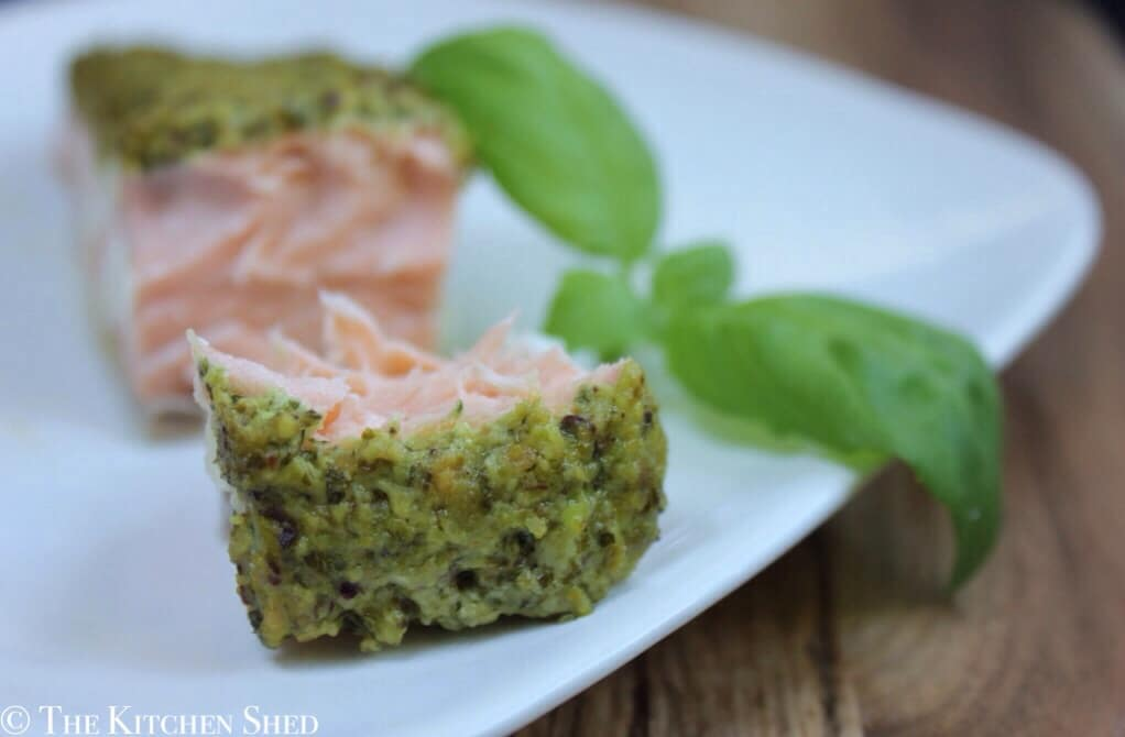 Clean Eating Oven Baked Pesto Salmon