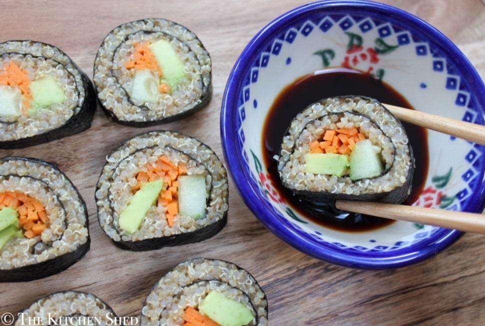 Clean Eating Quinoa Sushi