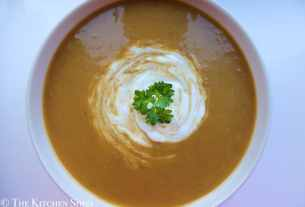 Clean Eating Sweet & Spicy Butternut Lentil Soup