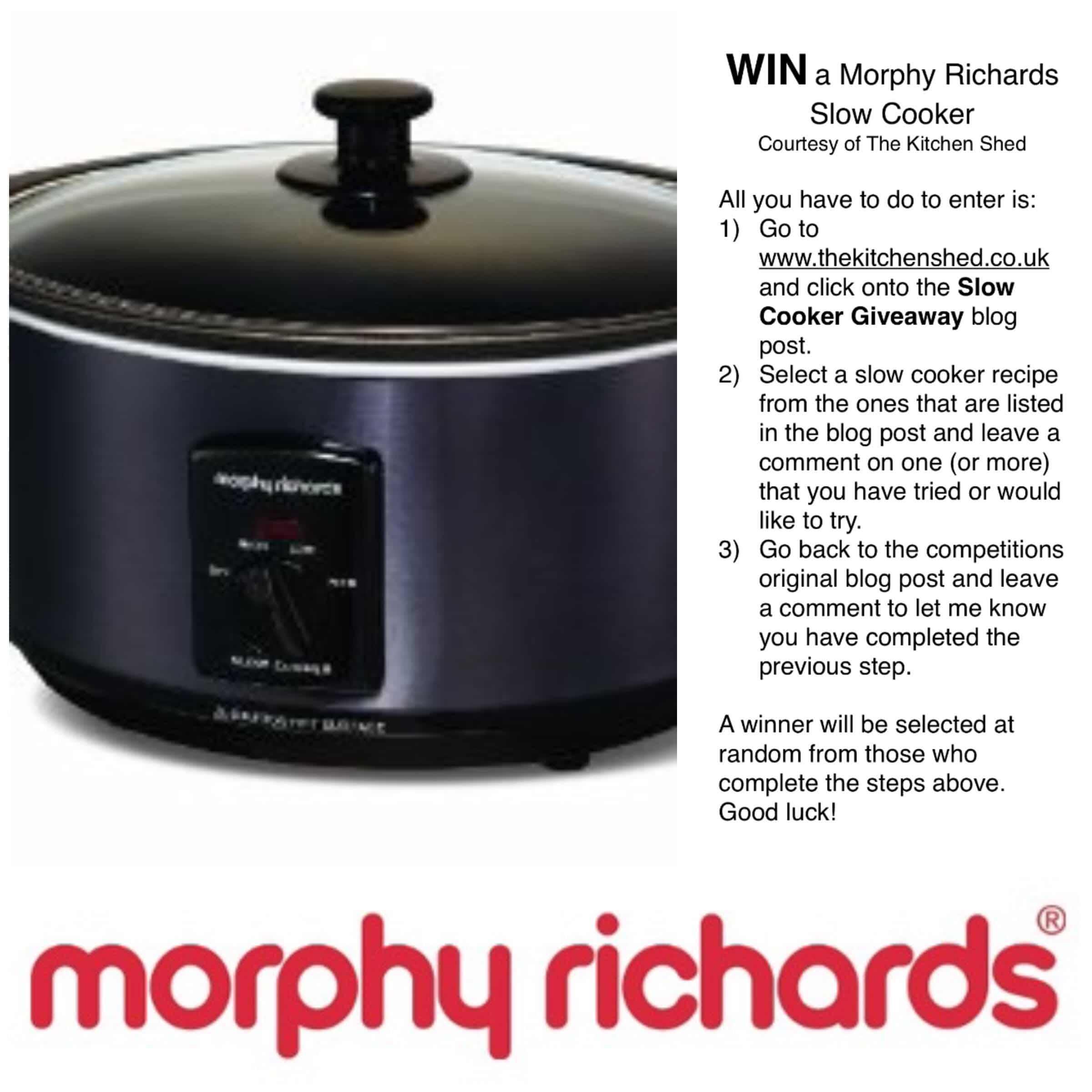 Slow Cooker Giveaway - www.thekitchenshed.co.uk