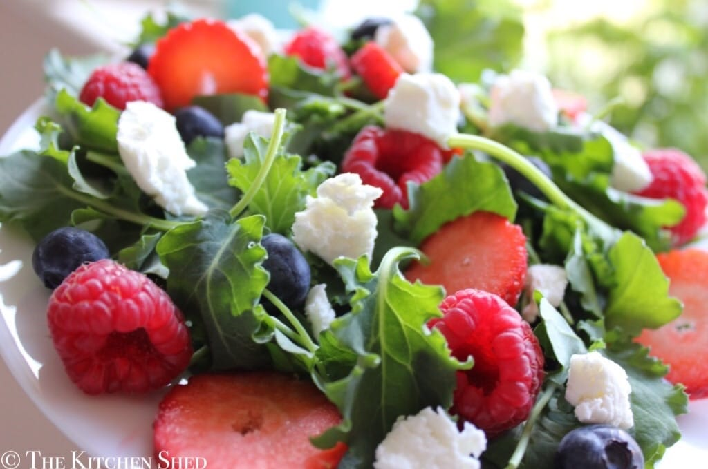 Clean Eating Baby Kale Berry Salad