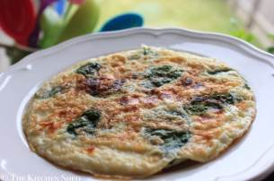 Clean Eating Goats Cheese Basil Omelette