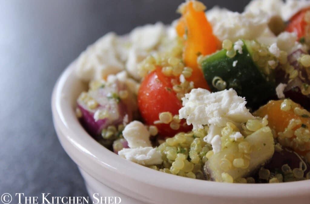 Clean Eating Pesto Quinoa Salad