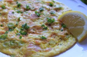 Clean Eating Salmon Spring Onion Omelette