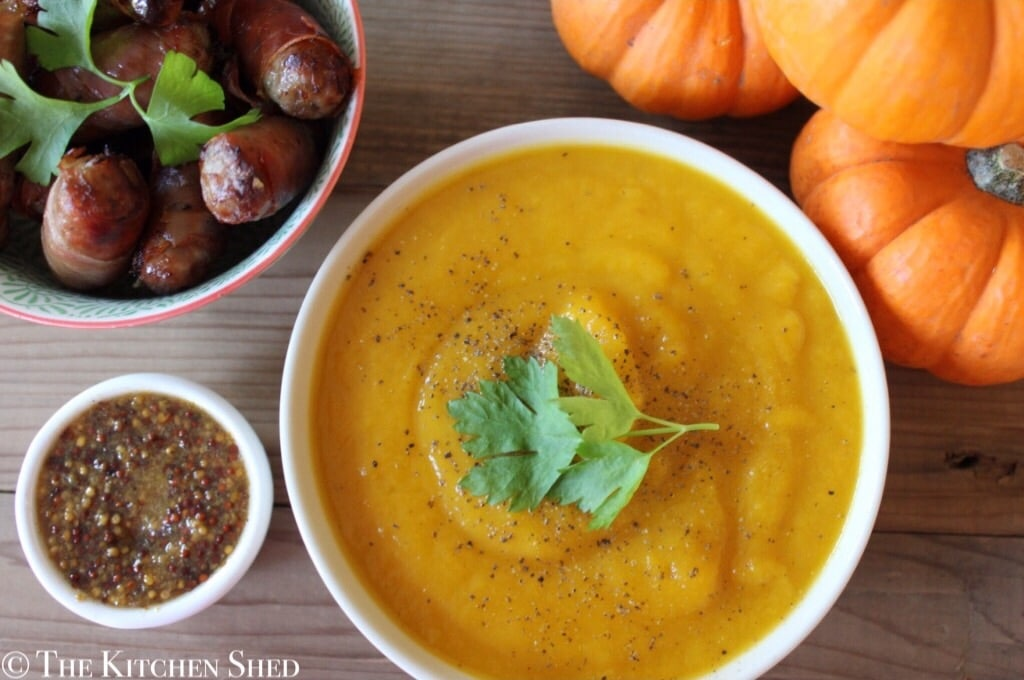 Clean Eating Pumpkin Soup - www.thekitchenshed.co.uk