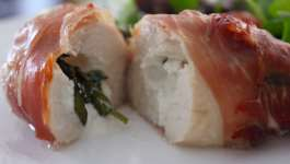 Clean Eating Basil & Goats Cheese Stuffed Chicken