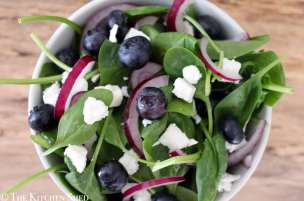 Clean Eating Blueberry & Goats Cheese Salad