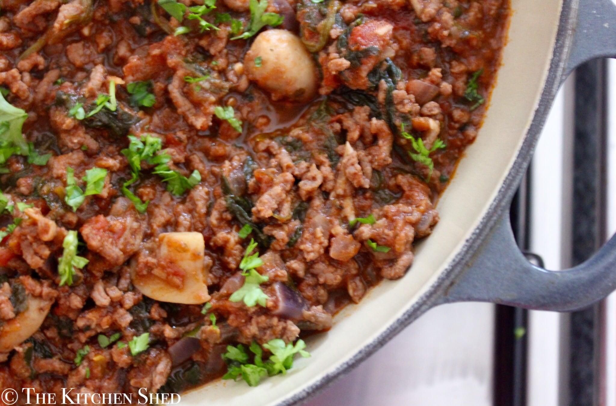 Clean Eating Organic Beef & Mushroom Bolognese