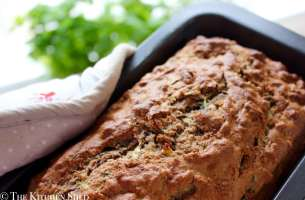 Clean Eating Sprouted Spelt Banana Courgette Bread