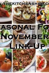 Seasonal Food In November - Link-Up