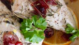 Clean Eating Baked Turkey with Cranberries