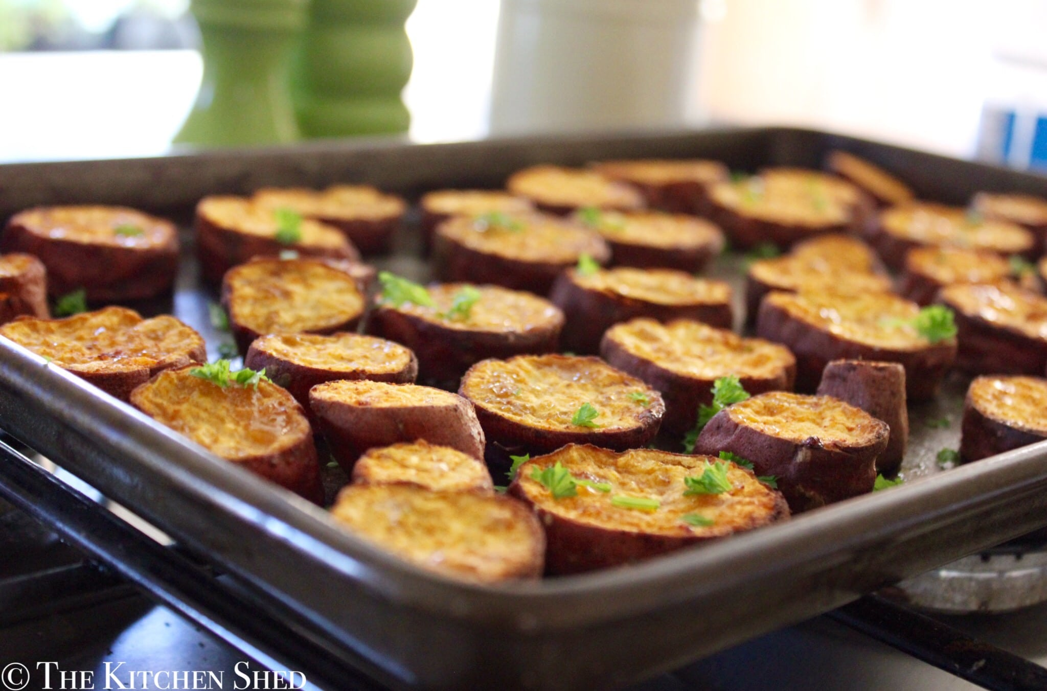 Clean Eating Baked Sweet Potato Rounds