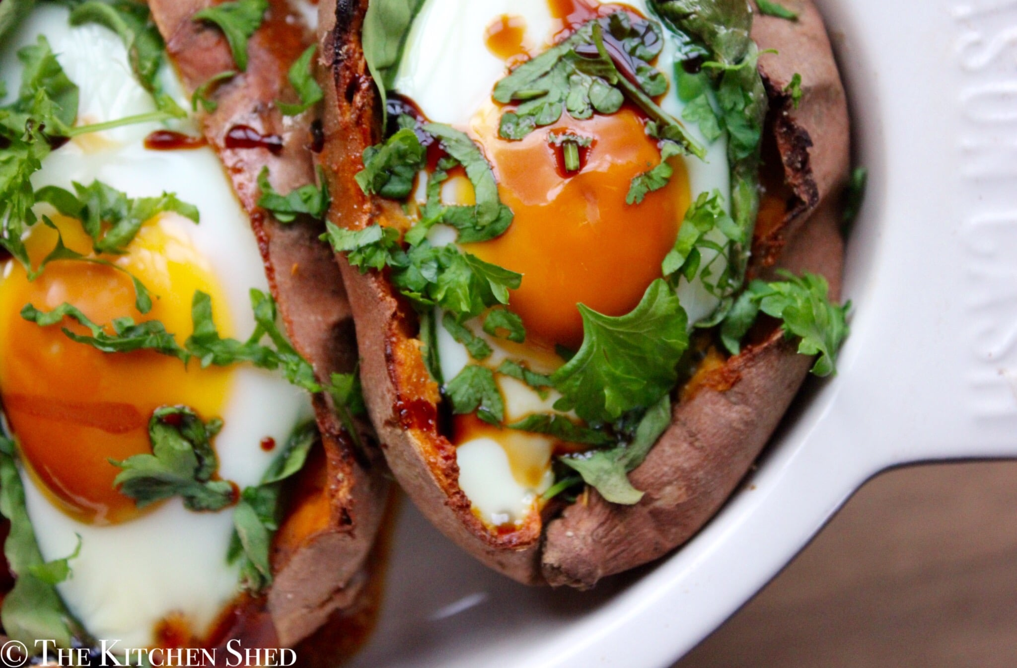 Clean Eating Egg Baked Sweet Potatoes