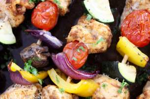 Clean Eating Chicken Fajita Kebabs