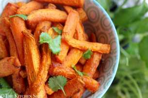 Clean Eating Coriander Carrot Chips
