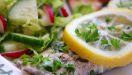 Clean Eating Lemon & Garlic Butter Rainbow Trout + 12 #SeafoodWeek Recipes 3