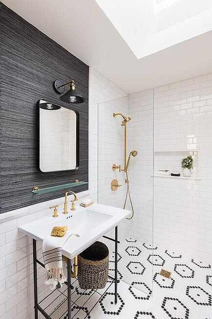 gorgeous bathroom accent wall ideas