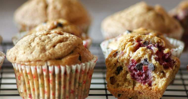 Muffin ai Lamponi e Fondente con Craquelin