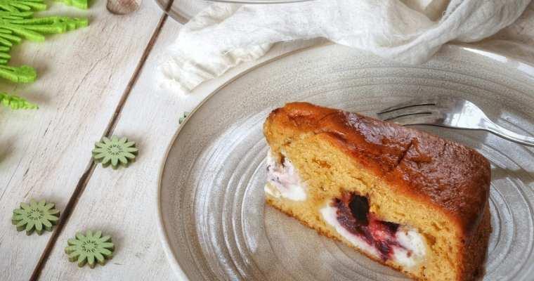 Torta Nua con crema di Ricotta e confettura di 🍒Ciliegie nere