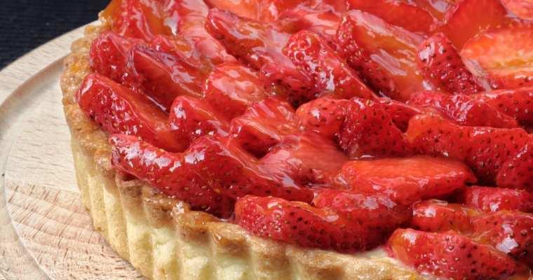 Crostata con crema e fragole 🍓