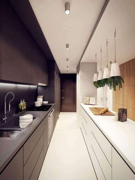 Long Narrow Kitchen Layout