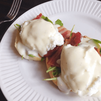 Bacon Mozzarella Benedict