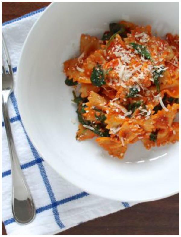 Sweet and Spicy Sausage and Farfalle and easy weeknight meal loaded with flavor that takes under 30 minutes to prepare.