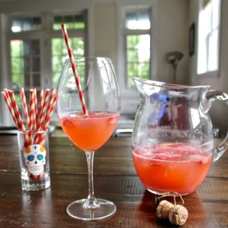 Strawberry Peach Sparkling Rosé Sangria
