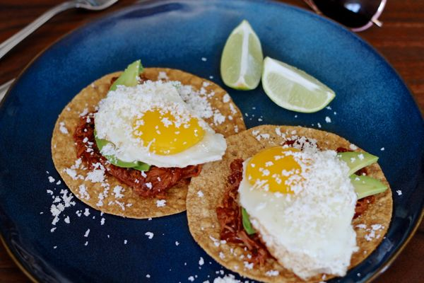 Pulled Pork Breakfast Tostadas