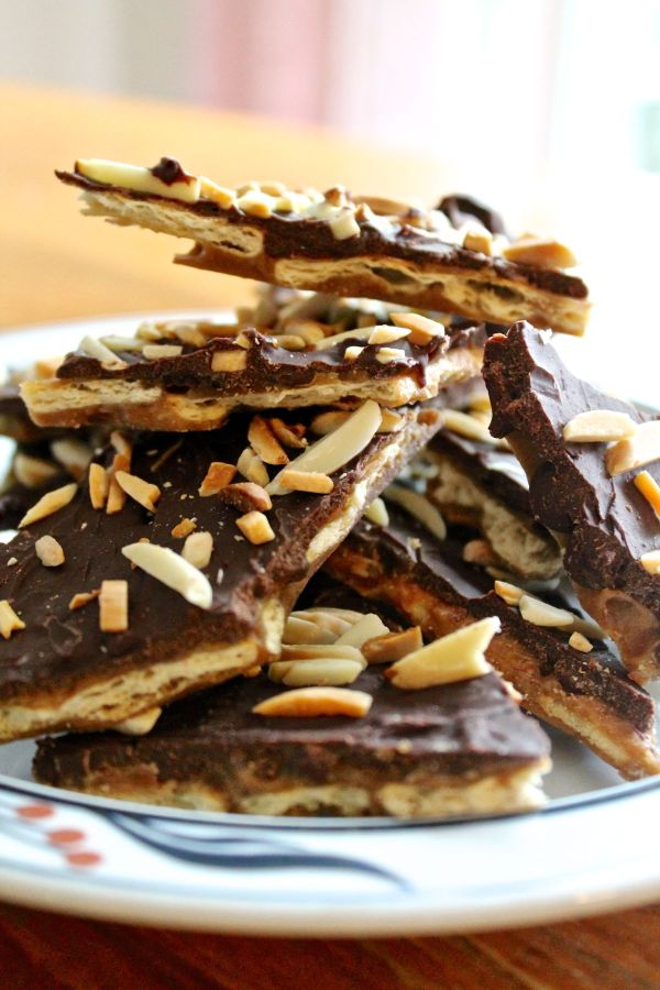 Crispy Chocolate Toffee Bark