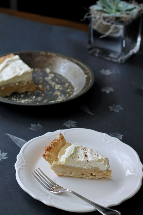 This Bourbon Butterscotch Pie will become a new tradition at holiday meals. A rich butterscotch pudding pie with a kick of bourbon flavor in a simple shortbread crust is a treat your friends and family will love!