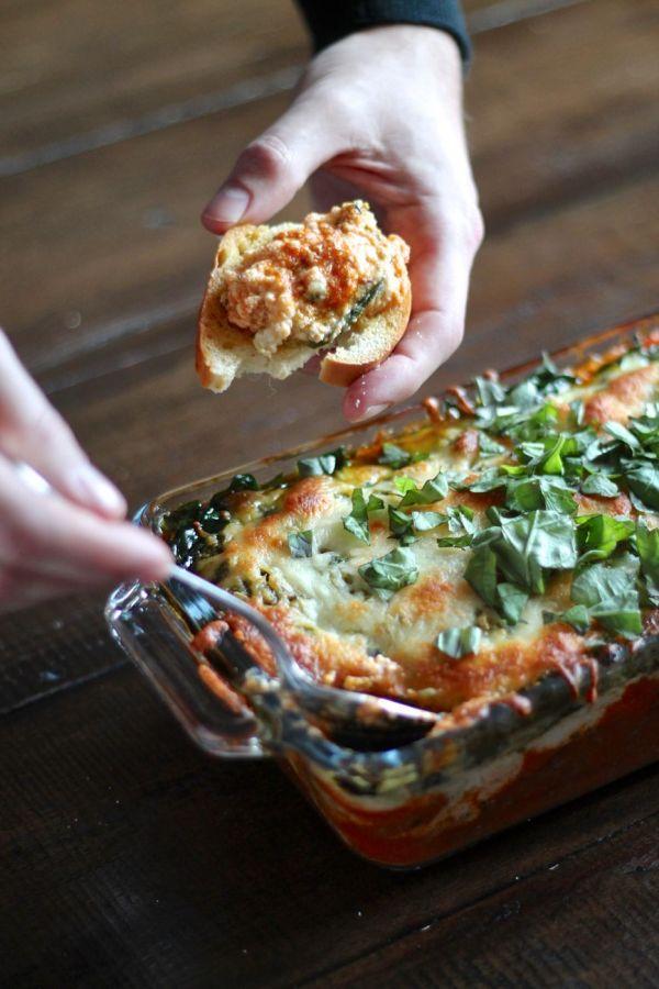 7 Layer Lasagna Dip via The Kittchen