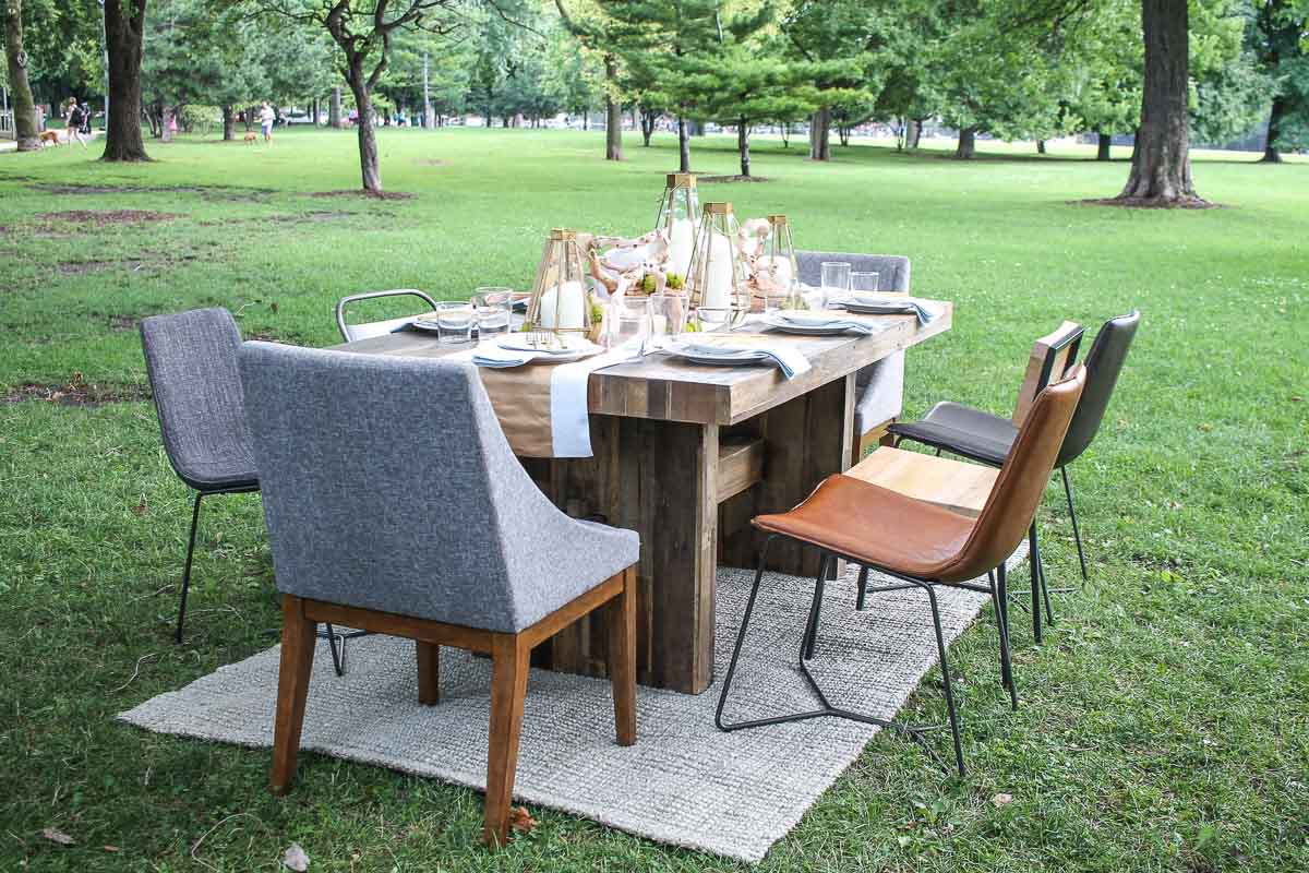 West Elm Kitchen Table Picnicking With West Elm And Snap Kitchen Thekittchen