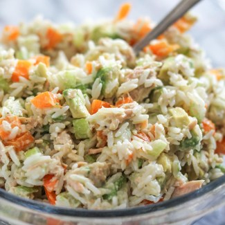 Salmon, Avocado, and Rice Salad
