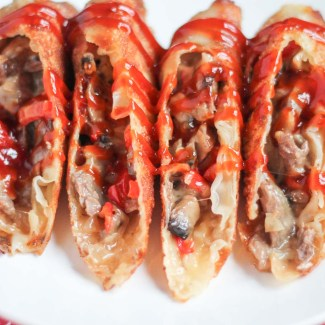 Cheesesteak Eggrolls (inspired by Del Frisco's)