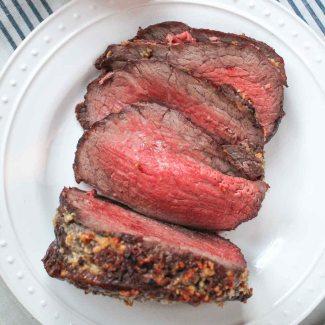 Roast Beef with a Sherry, Mushroom, Shallot Gravy