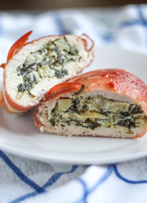 Spinach Artichoke Dip Stuffed Chicken