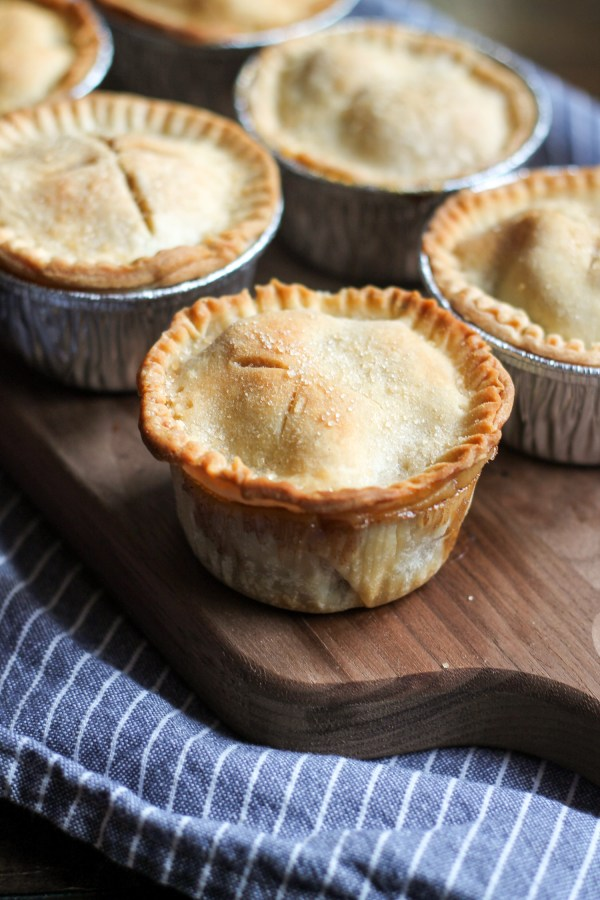 An easy recipe for mini apple pies that your family will love!